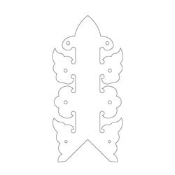 백담사 범종루 박공 - 기본디자인
