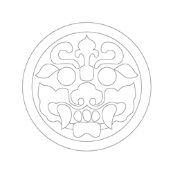 도깨비무늬수막새 - 기본디자인