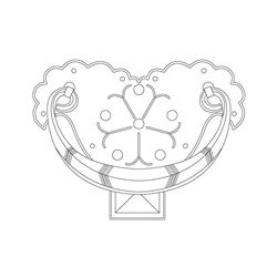 반닫이 백동장석 들쇠 - 기본디자인