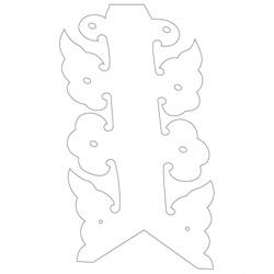 백담사 범종루 박공 - 원시문양