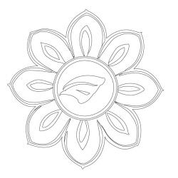 보리암 보광전 - 원시문양
