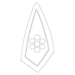 백양사 칠성전·진영각 - 원시문양