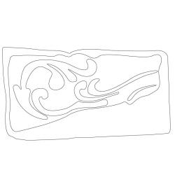 덩굴문암막새 - 원시문양