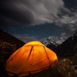 해문, 별자리문 활용 텐트