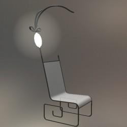 [칠보문] 램프 의자