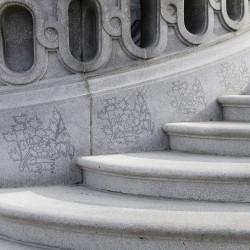 모란문 활용 계단