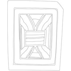 칠장사 범종루 부연 - 원시문양