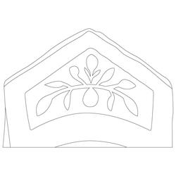 건릉 곡장 기와 - 원시문양