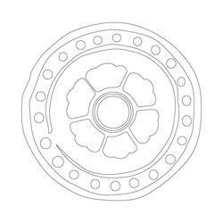 연화문수막새 - 원시문양
