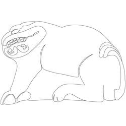 창덕궁 금천교 난간 - 원시문양
