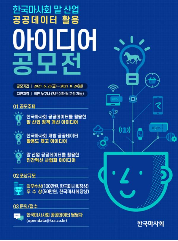 한국마사회 말 산업 공공데이터 활용 공모전