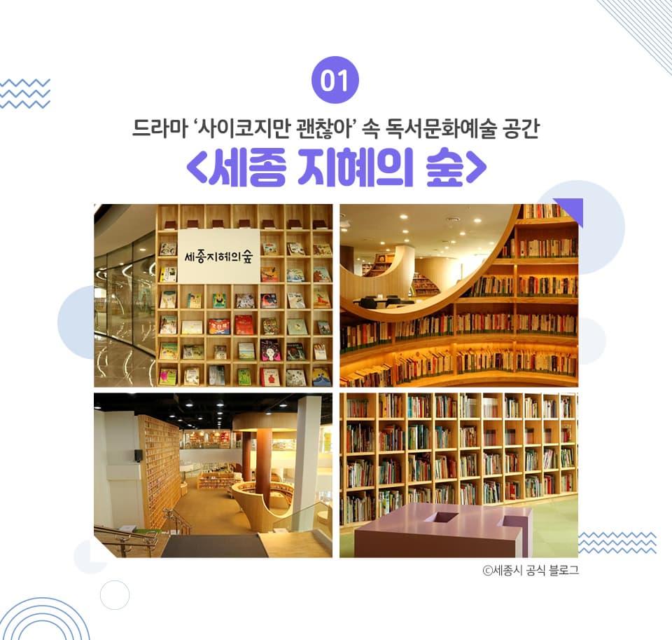 01. 드라마 사이코지만 괜찮아 속 독서문화예술공간 세종 지혜의 숲, 세종시 공식블로그