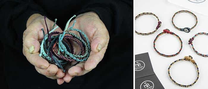 할머니들이 제작한 마르코로호의 팔찌제품들 ⓒ 마르코 로호