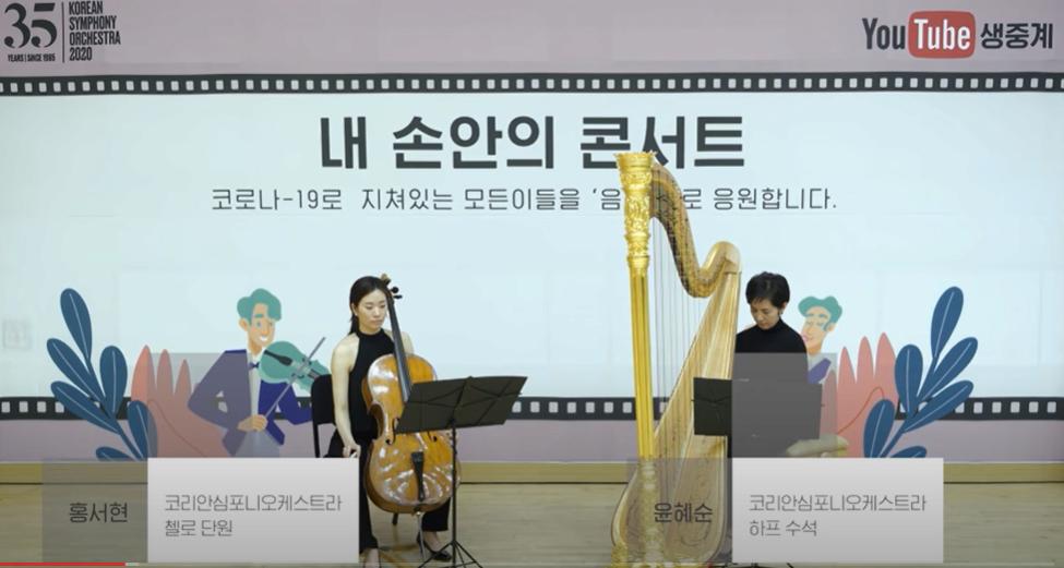 내 손안의 콘서트 I - 윤혜순(하프), 홍서현(첼로) 본문 내용 참조